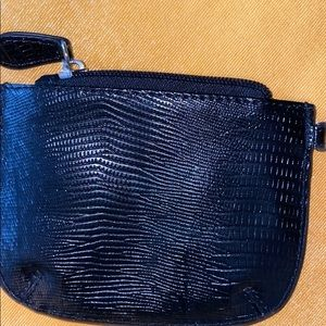 NWOT Jacob croc leather black coin purse
